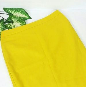 CAbi Yellow Pencil Skirt Size 6
